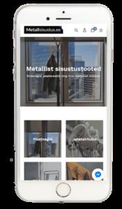 Metallisisustus.ee Shopify e-pood