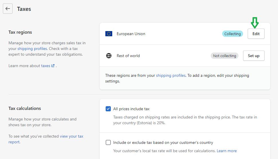 Shopify 9% käibemaks