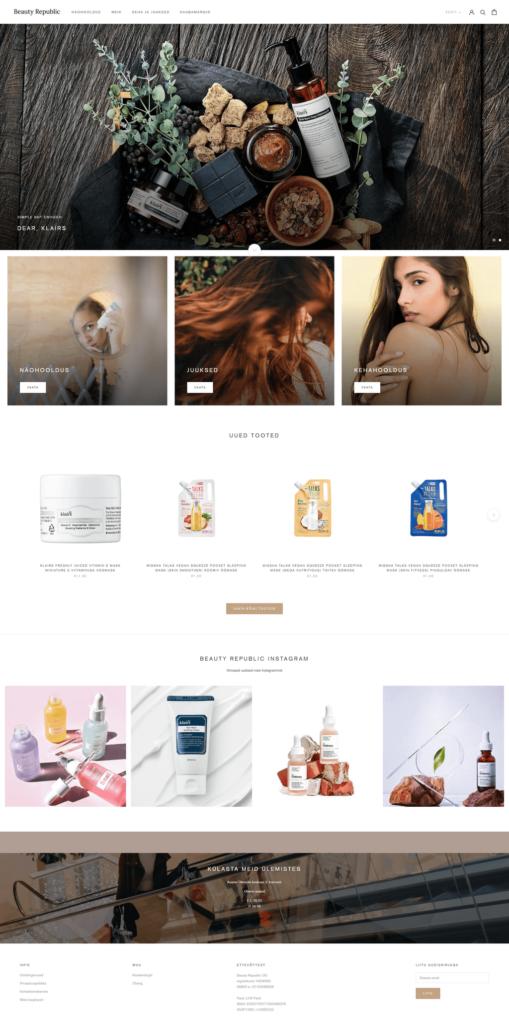 Beauty Republic Shopify e-pood